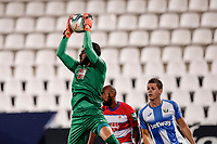 22nd June 2020; Estadio Municipal de Butarque, Madrid, Spain; La Liga Football, Club Deportivo Leganes versus Granada; Rui Silva (Granada CF)  collect the ball from a cross during the match