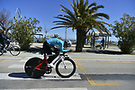 Michal Kwiatkowski (POL) Team Sky does a recon of the course before the start of Stage 7 of the 53rd edition of the Tirreno-Adriatico 2018 a 10km individual time trial around San Benedetto del Tronto, Italy. 13th March 2018.<br /> Picture: LaPresse/Fabio Ferrari   Cyclefile<br /> <br /> <br /> All photos usage must carry mandatory copyright credit (&copy; Cyclefile   LaPresse/Fabio Ferrari)