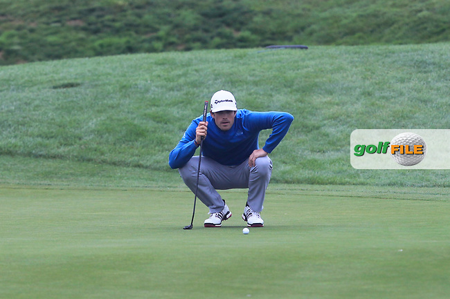 Nacho Elvira (ESP) on the 2nd green during Round 4 of the HNA Open De France  at The Golf National on Saturday 2nd July 2017.<br /> Photo: Golffile / Thos Caffrey.<br /> <br /> All photo usage must carry mandatory copyright credit       (&copy; Golffile   Thos Caffrey)