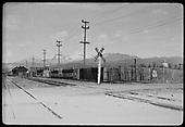 South end of Santa Fe railroad yards.<br /> D&amp;RGW  Santa Fe, NM