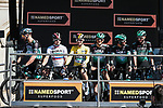 Race leader Maximilian Schachmann (GER) and Bora-Hansgrohe at sign on before Stage 6 of the 78th edition of Paris-Nice 2020, running 161.5km from Sorgues to Apt, France. 13th March 2020.<br /> Picture: ASO/Fabien Boukla | Cyclefile<br /> All photos usage must carry mandatory copyright credit (© Cyclefile | ASO/Fabien Boukla)