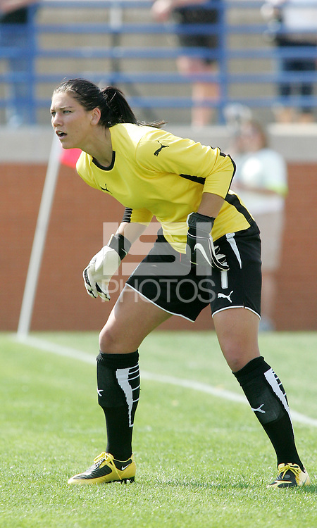 Hope Solo. Saint Louis Athletica and LA Sol played to a 0-0 tie at Robert Herman Stadium, St Louis, MO.