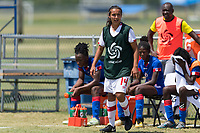 Bradenton, FL - Sunday, June 12, 2018: Maya Ladhani prior to a U-17 Women's Championship 3rd place match between Canada and Haiti at IMG Academy. Canada defeated Haiti 2-1.