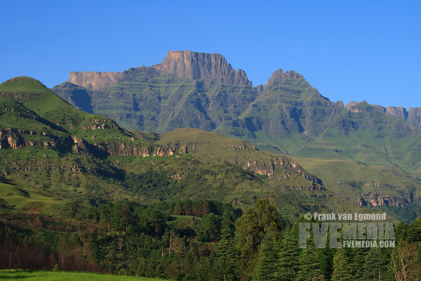 View from the Champagne Castle resort. Drakensberg..Kwazulu-Natal, South Africa.
