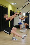 Boyne Rovers try out a TRX Class in Lab Fitness Gym, Greenhills....Photo NEWSFILE/Jenny Matthews.(Photo credit should read Jenny Matthews/NEWSFILE)....This Picture has been sent you under the condtions enclosed by:.Newsfile Ltd..The Studio,.Millmount Abbey,.Drogheda,.Co Meath..Ireland..Tel: +353(0)41-9871240.Fax: +353(0)41-9871260.GSM: +353(0)86-2500958.email: pictures@newsfile.ie.www.newsfile.ie.FTP: 193.120.102.198.