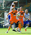 DUNDEE UTD'S BARRY DOUGLAS TRIES TO GET AWAY FROM KILMARNOCK'S JAMES FOWLER