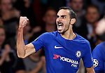 Chelsea's Davide Zappacosta celebrates scoring his sides second goal during the champions league match at Stamford Bridge Stadium, London. Picture date 12th September 2017. Picture credit should read: David Klein/Sportimage