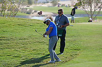 Jordan Smith (ENG) on the range during the Preview of the Commercial Bank Qatar Masters 2020 at the Education City Golf Club, Doha, Qatar . 03/03/2020<br /> Picture: Golffile   Thos Caffrey<br /> <br /> <br /> All photo usage must carry mandatory copyright credit (© Golffile   Thos Caffrey)