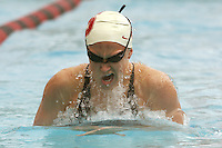 STANFORD, CA - JANUARY 22:  Liz Smith of the Stanford Cardinal during Stanford's 173-125 win over Arizona on January 22, 2010 at the Avery Aquatic Center in Stanford, California.