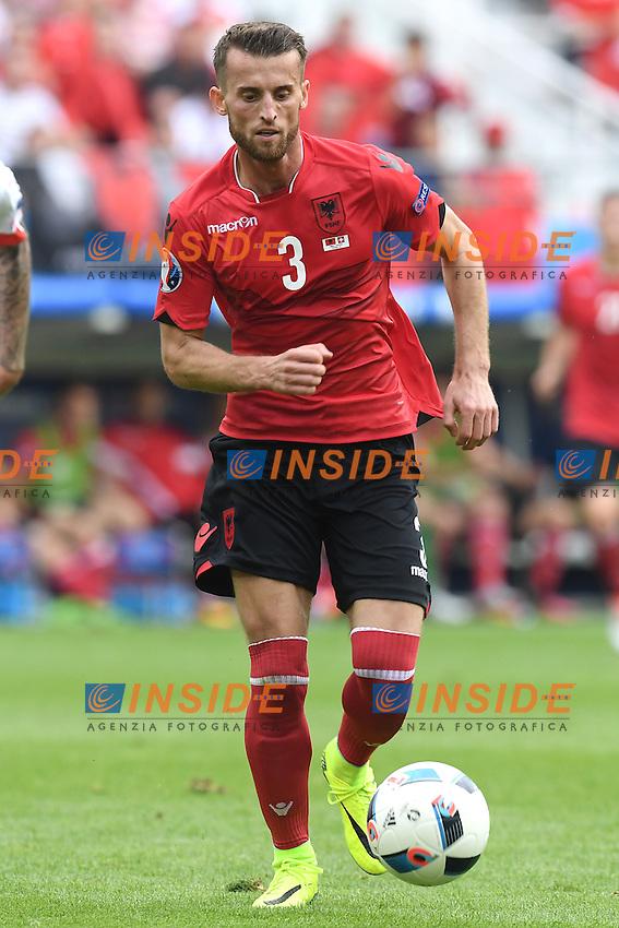 \Lens 11-06-2016 Stade Bollaert-Delelis Football  - Euro 2016 / Albania - Switzerland / foto Matteo Gribaudi/Image Sport/Insidefoto<br /> nella foto: Ermir Lenjani
