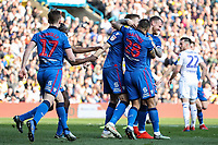 Bolton Wanderers' Mark Beevers celebrates scoring his side's first goal with his team mates<br /> <br /> Photographer Andrew Kearns/CameraSport<br /> <br /> The EFL Sky Bet Championship - Leeds United v Bolton Wanderers - Saturday 23rd February 2019 - Elland Road - Leeds<br /> <br /> World Copyright © 2019 CameraSport. All rights reserved. 43 Linden Ave. Countesthorpe. Leicester. England. LE8 5PG - Tel: +44 (0) 116 277 4147 - admin@camerasport.com - www.camerasport.com