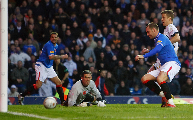 Kris Boyd knocks in Nacho Novo's cross for goal no 2