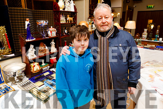 Joesph and Joey Dalton from Ballyduff enjoying the Antique Fair in the Ballygarry House Hotel on Sunday.