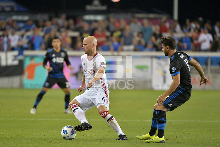 San Jose, CA - Saturday August 18, 2018: Michael Bradley during a Major League Soccer (MLS) match between the San Jose Earthquakes and Toronto FC at Avaya Stadium.