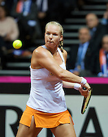 Arena Loire,  Trélazé,  France, 16 April, 2016, Semifinal FedCup, France-Netherlands, First match: Kiki Bertens (NED)<br /> Photo: Henk Koster/Tennisimages