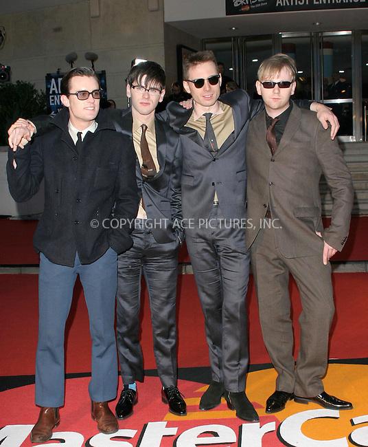 WWW.ACEPIXS.COM . . . . .  ... . . . . US SALES ONLY . . . . .....LONDON, FEBRUARY 9, 2005....Franz Ferdinand at the 25th Brit Awards, Earls Court.....Please byline: FAMOUS - ACE PICTURES - F. DUVAL... . . . .  ....Ace Pictures, Inc:  ..Philip Vaughan (646) 769-0430..e-mail: info@acepixs.com..web: http://www.acepixs.com