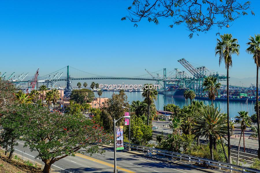 Long Beach, Ca. San Pedro CA, Terminal Island, City, Cityscape, Skyline, Architectural, Building, Southern California, USA,