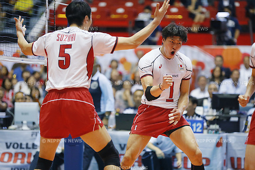 Kunihiro Shimizu (JPN), SEPTEMBER 21, 2015 - Volleyball : FIVB Men's World Cup 2015 A-site 3rd Round between Japan 0-3 Argentina 1st Yoyogi Gymnasium in Tokyo, Japan. (Photo by Yusuke Nakanishi/AFLO SPORT)