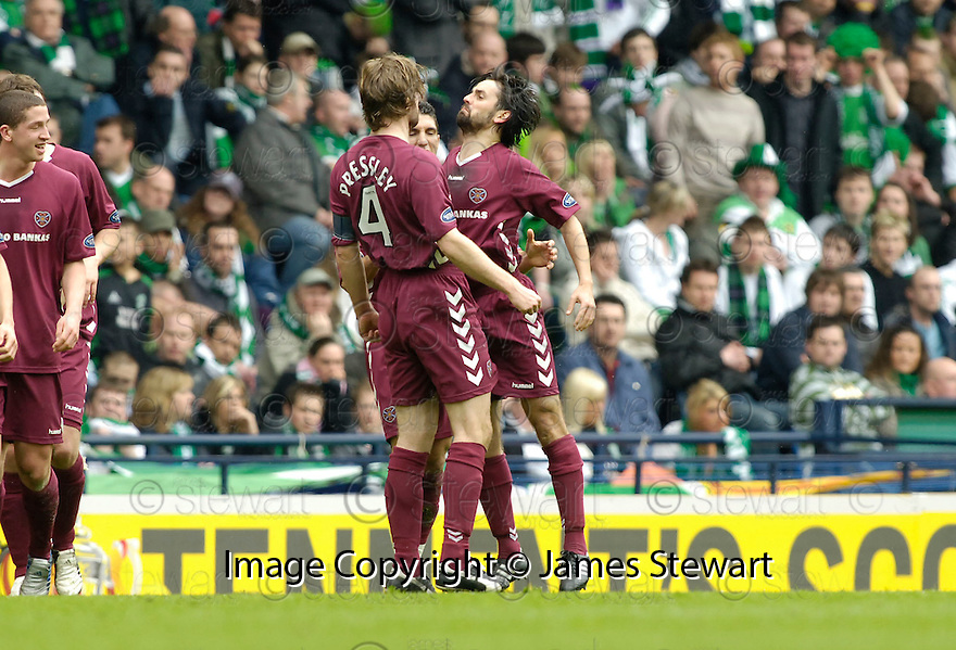 02/04/2006         Copyright Pic: James Stewart.File Name : sct_jspa03_hibernian_v_hearts.PAUL HARTLEY CELEBRATES SCORING THE FIRST....Payments to :.James Stewart Photo Agency 19 Carronlea Drive, Falkirk. FK2 8DN      Vat Reg No. 607 6932 25.Office     : +44 (0)1324 570906     .Mobile   : +44 (0)7721 416997.Fax         : +44 (0)1324 570906.E-mail  :  jim@jspa.co.uk.If you require further information then contact Jim Stewart on any of the numbers above.........