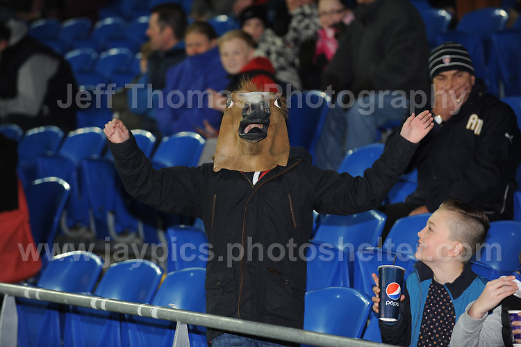 Some supporters come in all fashions at the Wales v Finland Vauxhall International friendly football match at the Cardiff City stadium, Cardiff, Wales. Photographer - Jeff Thomas Photography. Mob 07837 386244. All use of pictures are chargeable.