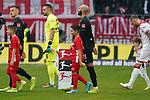 18.01.2020, Merkur Spielarena, Duesseldorf , GER, 1. FBL,  Fortuna Duesseldorf vs. SV Werder Bremen,<br />  <br /> DFL regulations prohibit any use of photographs as image sequences and/or quasi-video<br /> <br /> im Bild / picture shows: <br /> Einlauf der Mannschaften mit Kindern Ömer / Oemer Toprak (Werder Bremen #21),  <br /> <br /> Foto © nordphoto / Meuter