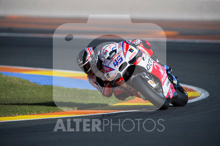 VALENCIA, SPAIN - NOVEMBER 11: Scott Redding during Valencia MotoGP 2016 at Ricardo Tormo Circuit on November 11, 2016 in Valencia, Spain