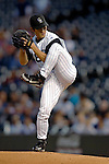 8 September 2006: Byung-Hyun Kim, pitcher for the Colorado Rockies, in action against the Washington Nationals. The Rockies defeated the Nationals 11-8 at Coors Field in Denver, Colorado...Mandatory Photo Credit: Ed Wolfstein.