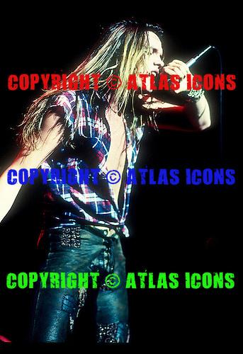 Skid Row; Sebastian Bach; Live; 1991-1992<br /> Photo Credit: Eddie Malluk/Atlas Icons.com