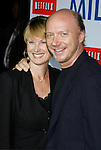 """BEVERLY HILLS, CA. - November 13: Director/Writer Paul Haggis and wife arrive at the Los Angeles Premiere of """"Milk"""" at the Academy of Motion Pictures Arts and Sciences on November 13, 2008 in Beverly Hills, California."""