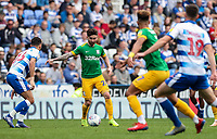 Preston North End's Sean Maguire competing with Reading's Lewis Baker <br /> <br /> Photographer Andrew Kearns/CameraSport<br /> <br /> The EFL Sky Bet Championship - Reading v Preston North End - Saturday 30th March 2019 - Madejski Stadium - Reading<br /> <br /> World Copyright © 2019 CameraSport. All rights reserved. 43 Linden Ave. Countesthorpe. Leicester. England. LE8 5PG - Tel: +44 (0) 116 277 4147 - admin@camerasport.com - www.camerasport.com