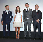 Benedict Cumberbatch, Keira Knightley, Matthew Goode and Allen Leech during the Presentation for 'The Imitation Game' at the Princess of Whales Theatre during the 2014 Toronto International Film Festival on September 9, 2014 in Toronto, Canada.