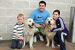 "Kyle, Jim and Shannon with Milo and Sid enjoying ""National Dog Walking Day"" at Petmania...(Photo credit should read Jenny Matthews www.newsfile.ie)....This Picture has been sent you under the conditions enclosed by:.Newsfile Ltd..The Studio,.Millmount Abbey,.Drogheda,.Co Meath..Ireland..Tel: +353(0)41-9871240.Fax: +353(0)41-9871260.GSM: +353(0)86-2500958.email: pictures@newsfile.ie.www.newsfile.ie."