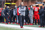 College Park, MD - October 27, 2018: Maryland Terrapins head coach Matt Canada during the game between Illinois and Maryland at  Capital One Field at Maryland Stadium in College Park, MD.  (Photo by Elliott Brown/Media Images International)