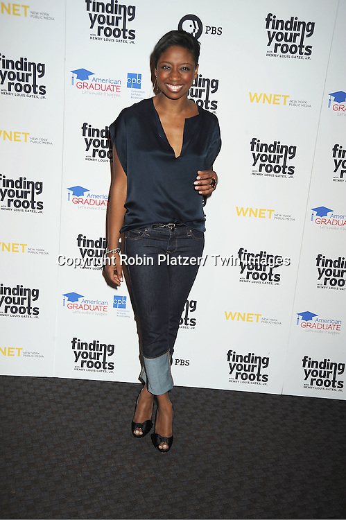 """Montego Glover attends the PBS""""s Finding Your Roots with Henry Louis Gates, Jr  Premiere screening   at The Allen Room at Frederick P Rose Hall in New York City on March 19, 2012."""