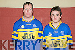 Double Winners: Father and son Michael & Mark Behan, rathea Listowel who won North Kerry championship medals on the one day playiing for St Senan's Junior and Minor teams.....Ref Jim Darcy who interviewed them.