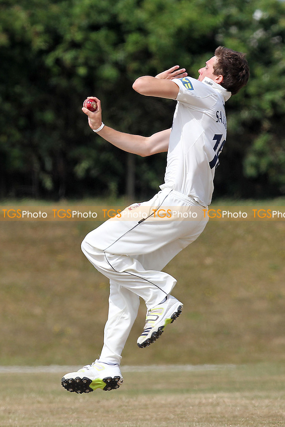 Matt Salisbury in bowling action for Essex - Essex CCC 2nd XI vs Middlesex CCC 2nd XI - Second XI Championship Cricket at Coggeshall Cricket Club - 16/07/13 - MANDATORY CREDIT: Gavin Ellis/TGSPHOTO - Self billing applies where appropriate - 0845 094 6026 - contact@tgsphoto.co.uk - NO UNPAID USE
