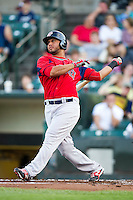 Pawtucket Red Sox designated hitter Mauro Gomez #34 during an International League game against the Rochester Red Wings at Frontier Field on August 11, 2012 in Rochester, New York.  Rochester defeated Pawtucket 5-3.  (Mike Janes/Four Seam Images)