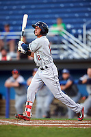 Mahoning Valley Scrappers shortstop Alexis Pantoja (12) at bat during a game against the Batavia Muckdogs on August 18, 2016 at Dwyer Stadium in Batavia, New York.  Batavia defeated Mahoning Valley 2-1.  (Mike Janes/Four Seam Images)