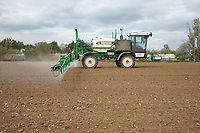 Applying herbicide to sugar beet - Lincolnshire, April