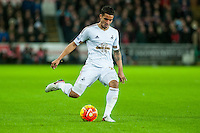 Kyle Naughton of Swansea in action during the Barclays Premier League match between Swansea City and West Ham United played at the Liberty Stadium, Swansea  on December 20th 2015