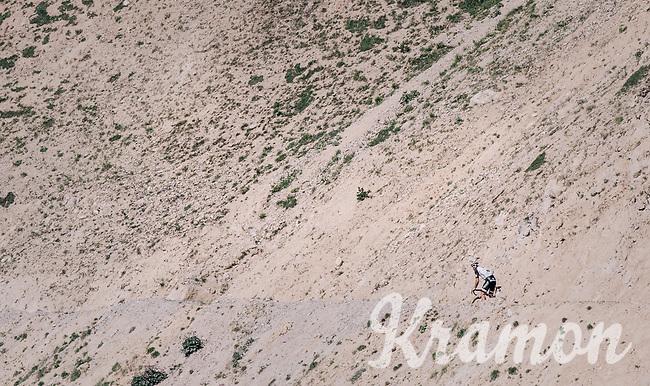 Simon Geschke (DEU/Sunweb) looking back up the Col d'Izoard (HC/2360m/14.1km/7.3%)<br /> <br /> 104th Tour de France 2017<br /> Stage 18 - Briancon › Izoard (178km)