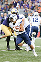 SEATTLE, WA - September 29:  BYU's Aleva Hall against Washington during the college football game between the Washington Huskies and the BYU Cougars on September 29, 2018 at Husky Stadium in Seattle, WA. Washington won 27-20 over BYU.
