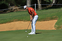 Yikeun Chang (KOR) in action on the 8th during Round 2 of the ISPS Handa World Super 6 Perth at Lake Karrinyup Country Club on the Friday 9th February 2018.<br /> Picture:  Thos Caffrey / www.golffile.ie<br /> <br /> All photo usage must carry mandatory copyright credit (&copy; Golffile | Thos Caffrey)
