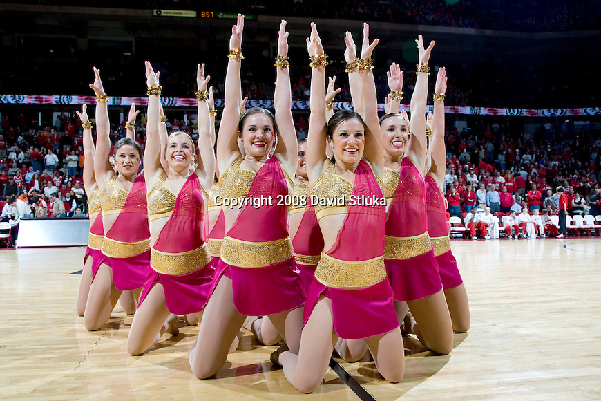 MADISON, WI - JANUARY 10: The dance team of the Wisconsin Badgers perform during the game against the Illinois Fighting Illini at the Kohl Center on January 10, 2008 in Madison, Wisconsin. Wisconsin beat Illinois 70-60. (Photo by David Stluka)