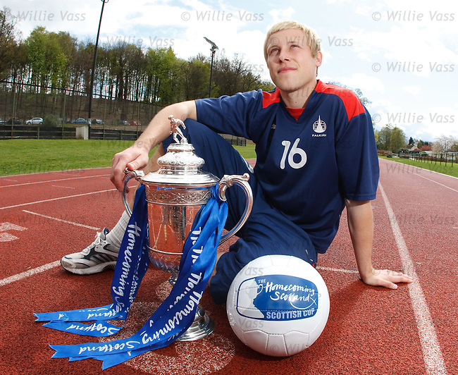 Falkirk's Scott Arfield looking ahead to Sunday's Homecoming Scottish Cup semi final