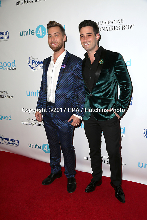 LOS ANGELES - APR 7:  Lance Bass, Michael Turchin at the 4th Annual unite4:humanity Gala at the Beverly Wilshire Hotel on April 7, 2017 in Beverly Hills, CA