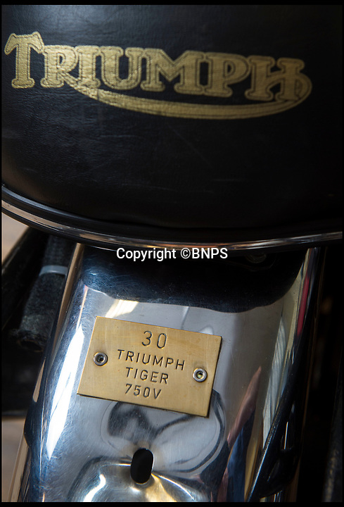 BNPS.co.uk (01202 558833)Pic: PhilYeomans/BNPS<br /> <br /> Each bike has an individual logbook of all repairs and servicing.<br /> <br /> The iconic motorcycles used by the disbanded White Helmets are to be auctioned - but it is feared none of the riders will be able to afford to buy their beloved bikes.<br /> <br /> After the famous Army daredevil display team performed their last ever event in August, their 30 Triumph bikes were split up.<br /> <br /> The Army has given permission for six of them to be sold to the public at an auction in Sherborne, Dorset.<br /> <br /> Although the famous machines have been given pre-sale estimates of £6,000 each they are likely to fetch double if not treble that figure.