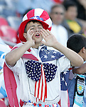 11 July 2007: Unidentified USA fan. The Under-20 Men's National Team of the United States defeated Uruguay's Under-20 Men's National Team 2-1 after extra time in a  round of 16 match at the National Soccer Stadium (also known as BMO Field) in Toronto, Ontario, Canada during the FIFA U-20 World Cup Canada 2007 tournament.