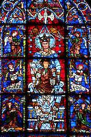Notre-Dame de la Belle Verrière, or the Blue Virgin, mid 12th century, Chartres Cathedral, Eure et Loir, France. Picture by Manuel Cohen