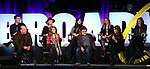 Grey Henson, Casey Nicholaw, Kate Rockwell, Nell Benjamin, Ashley Parker, Jeff Richmond, Taylor Louderman, Tina Fey and Erika Henningsen on stage during Broadwaycon at New York Hilton Midtown on January 11, 2019 in New York City.